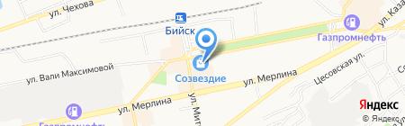 Квадрат на карте Бийска