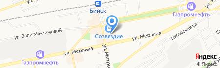 Эвалар на карте Бийска