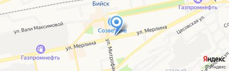 Магазин мужской обуви на карте Бийска