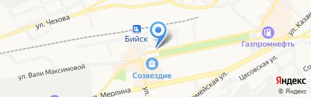 Ксения на карте Бийска