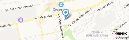 Краевой наркологический диспансер на карте Бийска