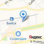 Автостоянка на карте Бийска
