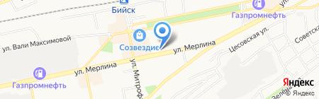 Баттерфляй на карте Бийска