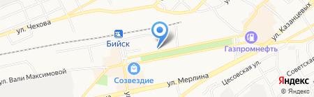 Узловая поликлиника станции Бийск на карте Бийска