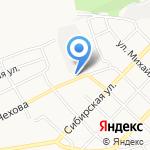 Кирпичный завод на карте Бийска