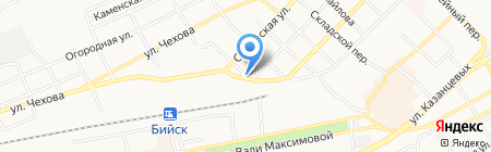 Удачный на карте Бийска
