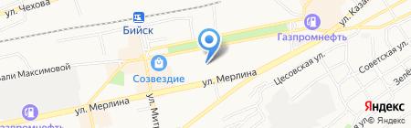 Квартирное бюро на карте Бийска