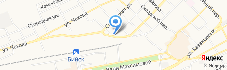 Ростовский на карте Бийска