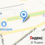 Средняя общеобразовательная школа №8 на карте Бийска