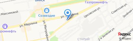 Лигаинструмент на карте Бийска