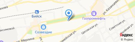 Шарм на карте Бийска