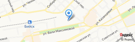 Магазин головных уборов на карте Бийска
