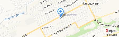 Янтарная бочка на карте Бийска