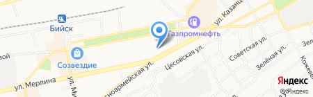 Домашний на карте Бийска
