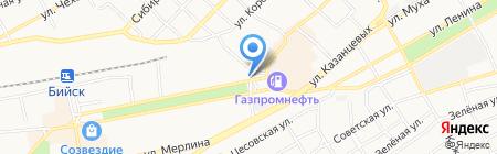 Сергиевы Пекарни на карте Бийска