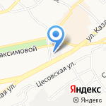 Бюро ремонта АТС на карте Бийска