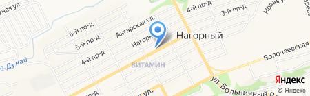 Бирюза на карте Бийска