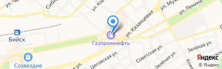 АЗС Газпромнефть на карте Бийска
