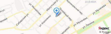 Бийский медицинский колледж на карте Бийска
