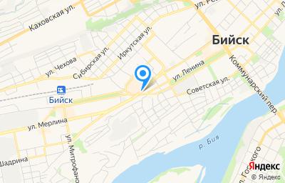 Местоположение на карте пункта техосмотра по адресу Алтайский край, г Бийск, ул Владимира Ленина, зд 314