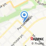 Гаражно-строительный кооператив №10 на карте Бийска