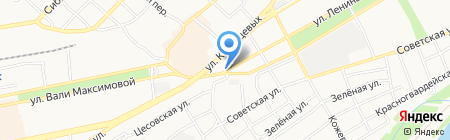 Автостоянка на ул. Ильи Мухачёва на карте Бийска