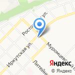 Автокомплекс на карте Бийска