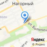 Волочаевский на карте Бийска