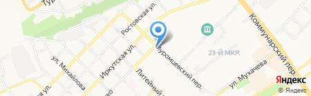 Иномарка на карте Бийска