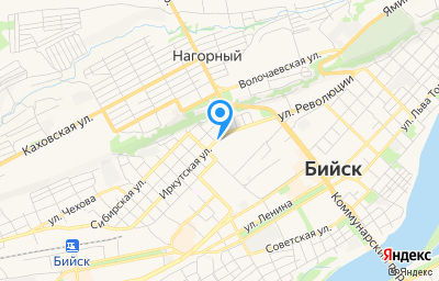 Местоположение на карте пункта техосмотра по адресу Алтайский край, г Бийск, ул Иркутская, д 1/35