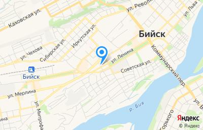 Местоположение на карте пункта техосмотра по адресу Алтайский край, г Бийск, ул Владимира Ленина, д 268