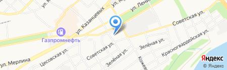 Сибирский угол на карте Бийска