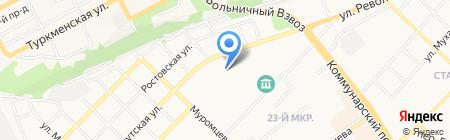 Алтайская торговая компания на карте Бийска