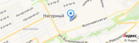Гаражно-строительный кооператив №15 на карте Бийска