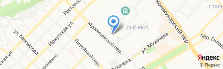 Средняя общеобразовательная школа №4 им. В.В. Бианки на карте Бийска