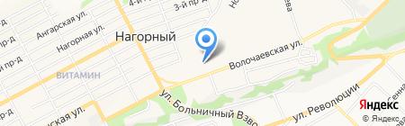 Гаражно-строительный кооператив №9 на карте Бийска