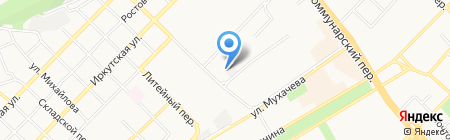 Армейский на карте Бийска