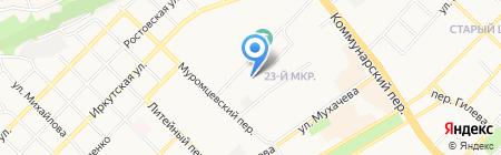 Гаражно-строительный кооператив №65 на карте Бийска