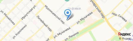 Гаражно-строительный кооператив №55 на карте Бийска