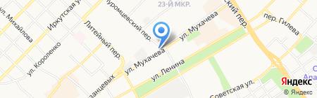 Вектор плюс на карте Бийска