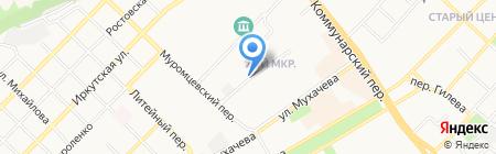 Гаражно-строительный кооператив №35 на карте Бийска