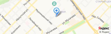 Центральная на карте Бийска