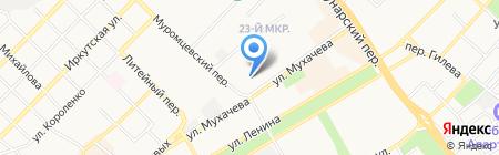 Мармелад на карте Бийска