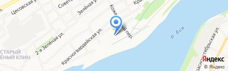 Бийское ДЭУ на карте Бийска