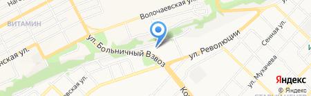 Волга на карте Бийска