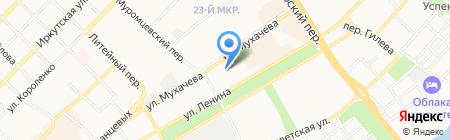Мясной дворик на карте Бийска