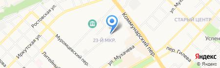 Продукты на Мухачёва на карте Бийска
