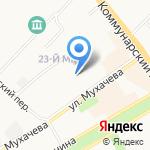Средняя общеобразовательная школа №1 на карте Бийска