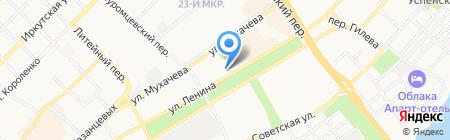 За рулем на карте Бийска