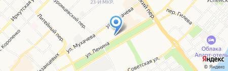 Андра на карте Бийска